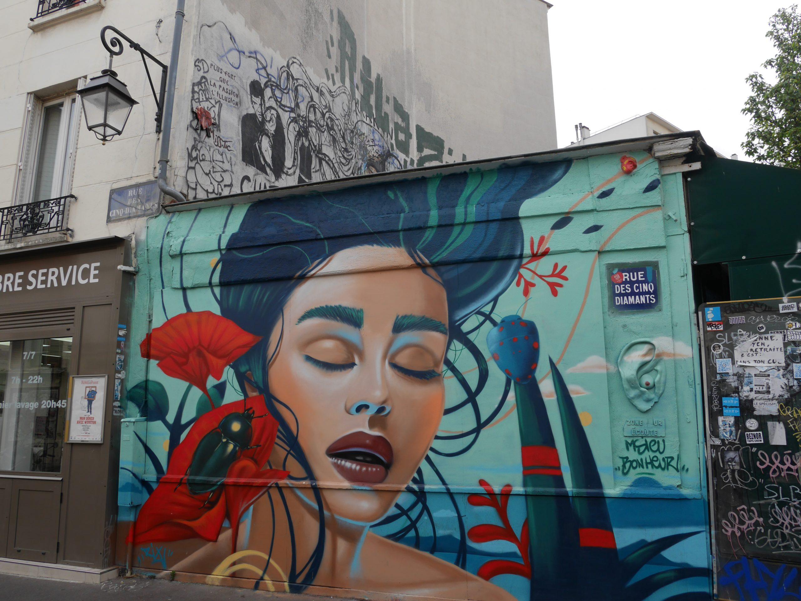 La butte aux cailles à Paris, histoire et street art.